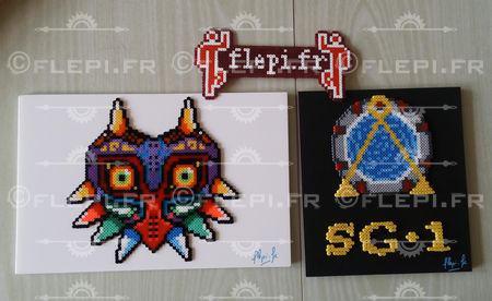 Some mini beads fall on a frame by flepi