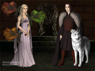 Dany and Jon Snow 01 by QueenoftheLustful