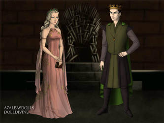 King Loki and his Queen Sigyn by QueenoftheLustful