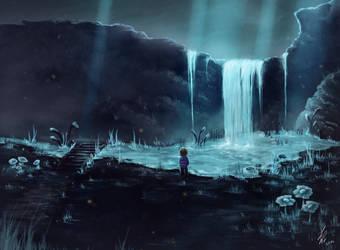 Down in Waterfall by CrazyAndFallenForArt