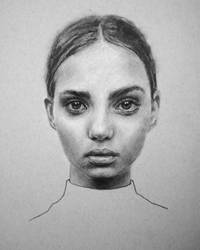 Inka Williams Charcoal Portrait by StefanRess