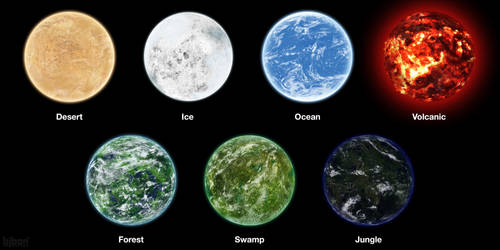 Planet Types by bjbon14