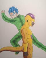 Super Saiyan Blue Gohan VS Golden Frieza PROMARKER by ChibiBardock