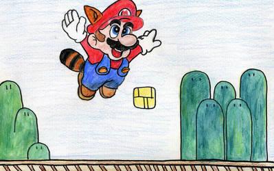 Raccoon Mario by artfreak5