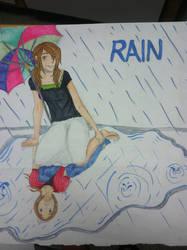 Rain Fan Art by yesnomabyso