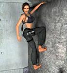 Lara Croft - Tomb Raider Anniversary (in home) by Larreks