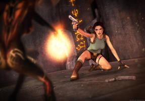 Tomb Raider 1 - Last fight by Larreks