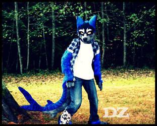 wolf shark fursuit partial by DexterousZombie