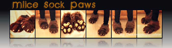 Mlice Sock Paws - CMSH by DexterousZombie