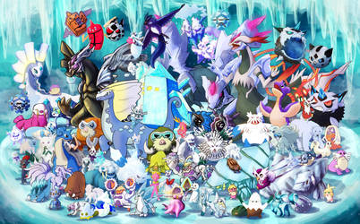 Gotta Draw 'em All: Ice Type Collaboration by Krisantyne