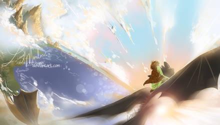 Across the sky by Sabaku-no-hana