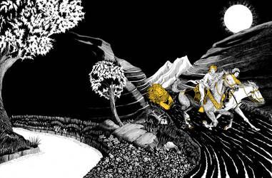 Ride for Narnia (Cover Design) by brightredrose
