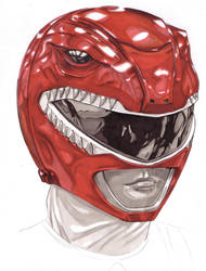 Red Power Ranger/Zyuranger Helmet by Thestickibear
