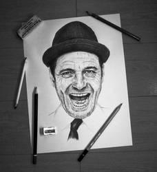 Bryan Cranston portrait (SOLD) by WaxwingMedia