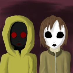 Masky And Hoody by MelancholyHorror