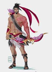 Heartseeker Hanzo valentines skin.............. by Senkkei