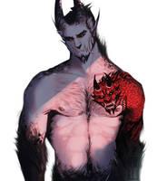 demon hanzo by Senkkei
