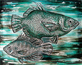 Fish pair - embossed by shmeeden