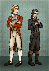 Sir Percy and Chauvelin by shmeeden