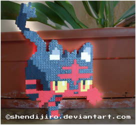 Litten from Pokemon | Bead Sprite | DIY Video by Shendijiro