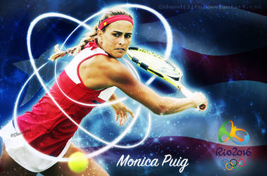 Monica Puig by Shendijiro
