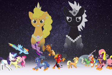 Mane 6 vs. Champions (requested by Starlight Nova) by miipack603