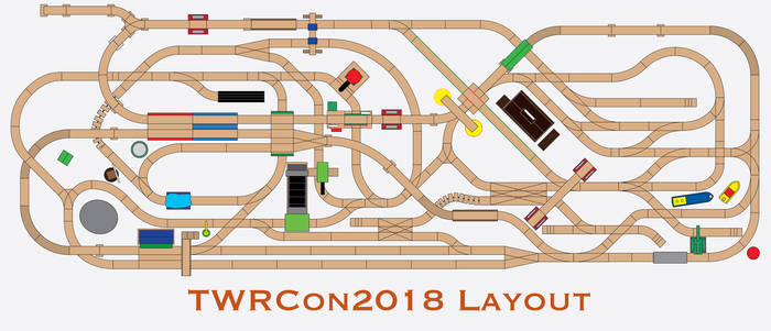 TWRCon2018 Layout Track Plan by miipack603