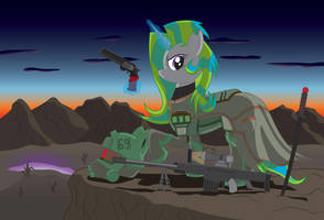 Fallout Equestria: Lone Ranger Cover Art by miipack603