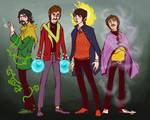 Beatles Superheroes by lorainesammy