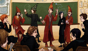 Beatles in Hogwarts by lorainesammy