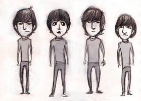 Beatles sketch by lorainesammy