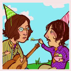 Beatles: John and Ringo by lorainesammy