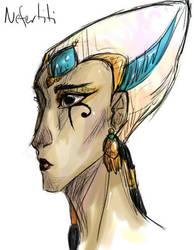 Nefertiti: Colored by UchihaKurai0oa