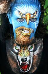 Facepainting Transformation by iacubino