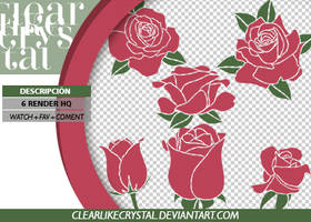 Pack PNG | Rosas by jellycxt