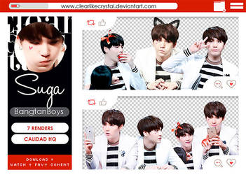 #101 | Pack PNG | Suga |BTS by jellycxt