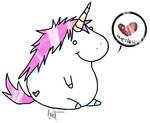 Fat Unicorn. by Kitten-Whiskerz