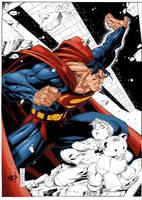 MADs Superman Colored WIP by kryptonian-fan