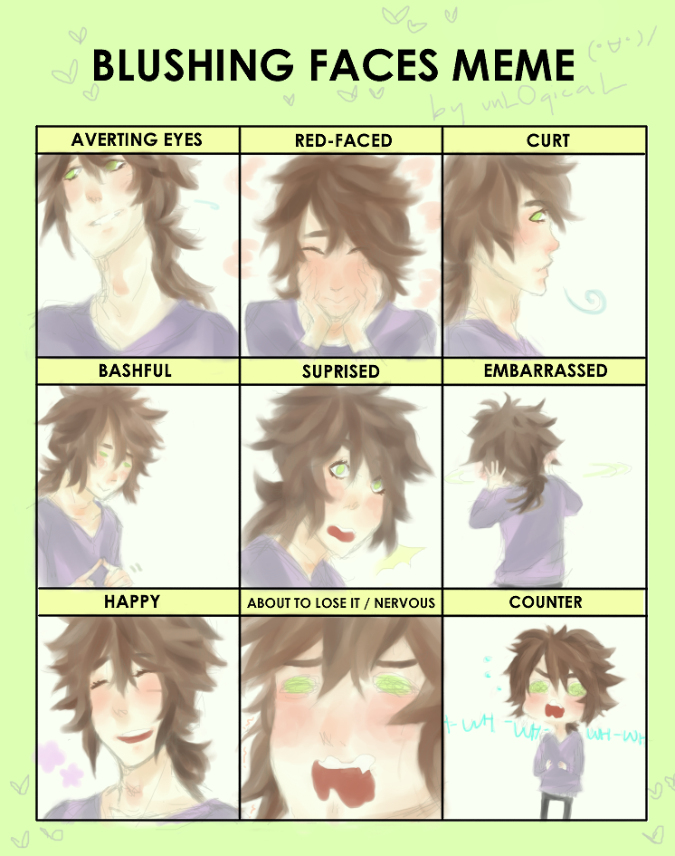 Blushing Faces Meme Hykell By Unlogical On Deviantart