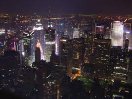 New York At Night by minniemae