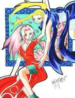 Sakura and Ino by minniemae