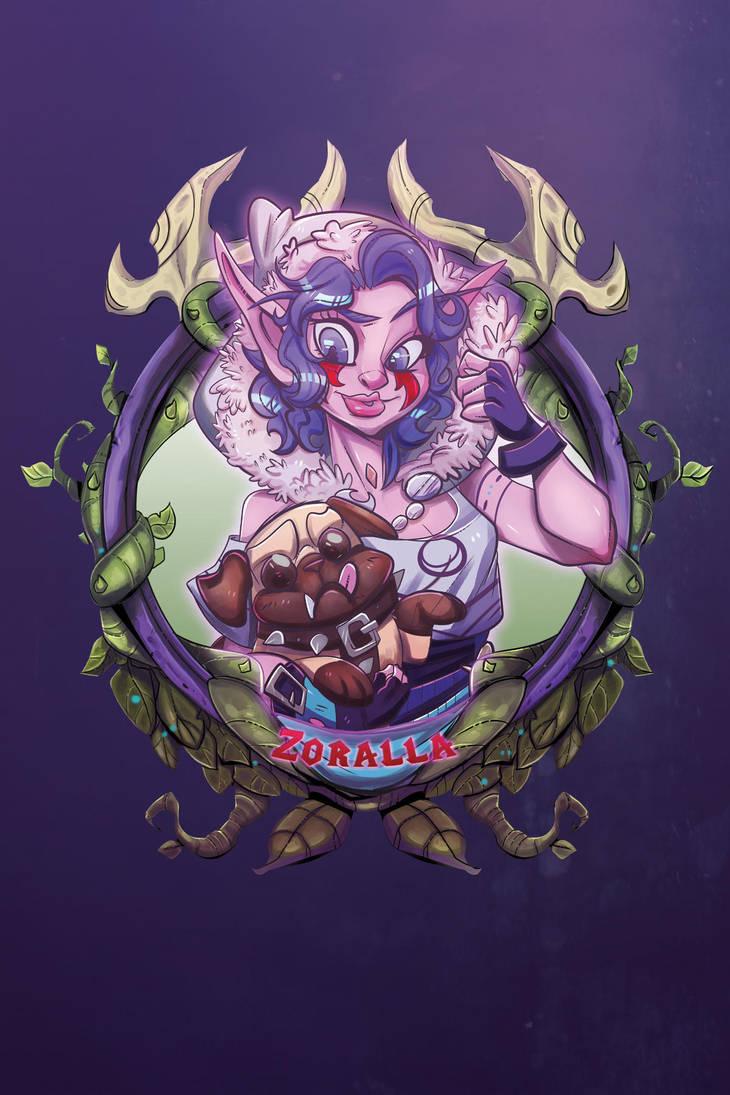 Zoralla -BlizzCon Badge- by royalshark