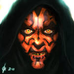 Darth Maul Speedpaint by kaio89