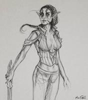 Elf girl doodle by kaio89