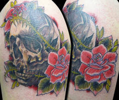 skull and roses by michaelbrito