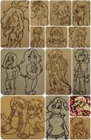 WIPs, Practice Sketches, etc... #11 by ChristinaDoodles