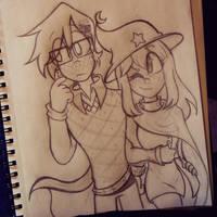 Evan and Viola / WIP #16 by ChristinaDoodles