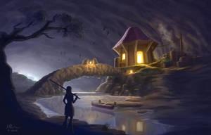 Hut in a Cavern by artlon