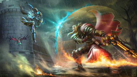 Battle at Stromgarde: Aeriyth vs. Tendael by artlon