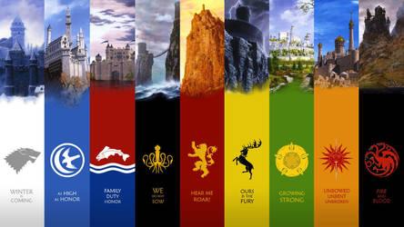 Game of Thrones Castles by antony-hitzig